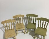112th scale pair of Witches kitchen chairs  spooky potions spells