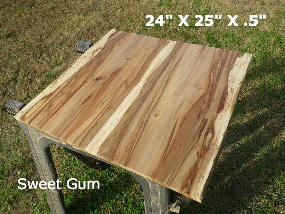 Live edge sweet gum wood slab finished diy floating shelf for Finished wood slabs