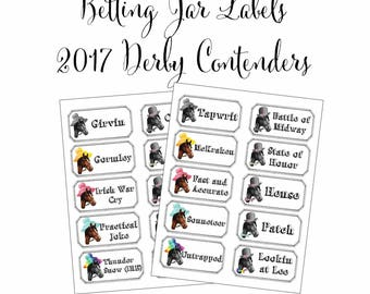 Kentucky Derby Party Printables Preakness Party Belmont Stakes Party Horse Racing Printable Betting Sheets 5 Digital Files Instant Download
