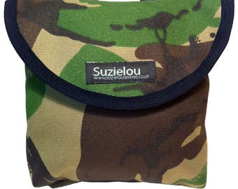 Child's Camouflage Print Handlebar Bag by Suzielou textiles, scooter bag, bike bag