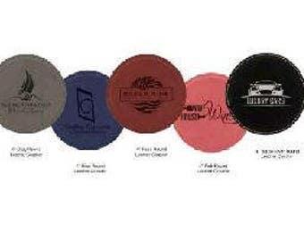 Round Leatherette Coaster (Single)