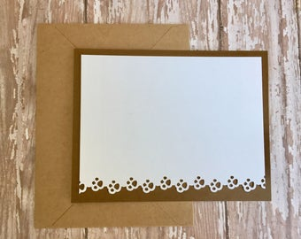 paw print note cards, thank you note cards, pet note cards, pet thank you cards, pet cards, flat note cards, 8 cards