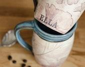 Personalized Coffee Mug - Custom Mug - Handmade mug - Rustic Mug