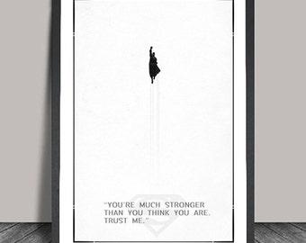 Superman  Poster.Superheroes Minimalist .Avanger. Black & White Minimalist,Heroes ,Wall art, Artwork, DC comics poster, Gift,Gift for him