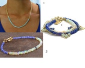 Private Listing: Opal and Tanzanite Necklace and Bracelet. Listing 3 of 3.