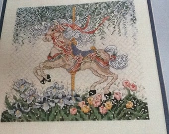 CAROUSEL FLOWERS - Cross Stitch Pattern Only