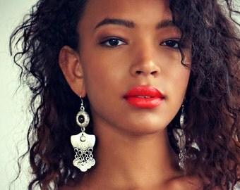Kamon Turquoise Earrings Tribal Earrings Boho Jewelry