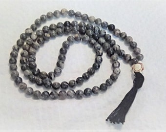Spiderweb Jasper Mala Buddhist prayer beads rosary 108 beads Mala Worry beads  Meditation.