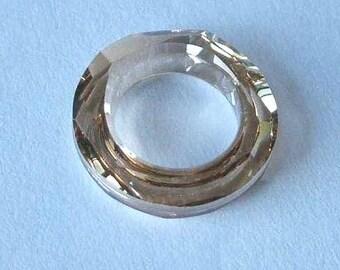 1 SWAROVSKI 4139 Cosmic Ring Crystal 30mm GOLDEN SHADOW