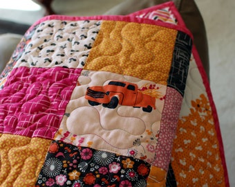 Homemade Patchwork Baby Quilt - Pink Quilt - Baby Girl Quilt - Baby Shower - Mothers Day GIft
