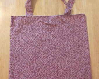 Cotton Grocery Tote, Plum and Green