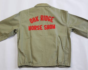 1960s NOS Oak Ridge Horse Show Work Jacket Chain Stitching Sz S