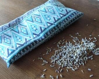 Retro Blue Lavender Yoga Eye Pillow