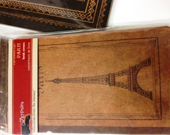 7 Gypies PARIS Book Covers. Vintage Look.  Contains Front and Back Book Covers.