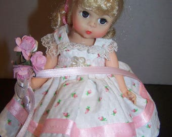 rosebud flower girl handmade outfi on Madame Alexander doll * in