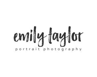 Premade Photography Logo and Watermark,  Modern Marker Script Font Watercolor Calligraphy Logo 404