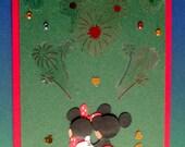 Magical night with Minnie and Mickey handmade greetings card