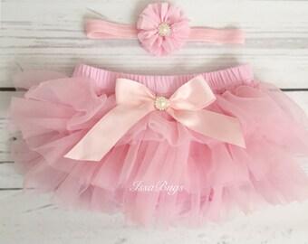 Pink tutu-pink tutu bloomers-baby diaper cover-newborn take home outfit-newborn tutu-tutu outfit-tutu set-tutu baby shower-1st birthday tutu
