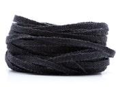 Handwoven 1/8 Inch Linen Tape Ribbon Black L18402003
