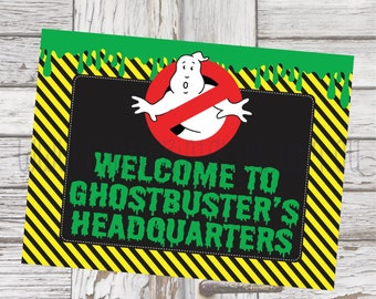 "Ghostbusters Party Welcome Sign, Welcome Sign printable, Ghostbusters Party, Ghostbusters party decorations 10x7.5"" PDF"