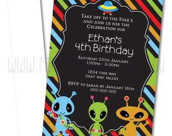 Alien Party Invitation | Alien Party Invitation Printable | Alien Party | Party Printables