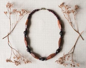 SALE - JARUG Natural Wood Bead Necklace