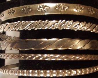 Bangle Taxco Other Vintage Sterling Silver 925 Collection Buy 1 or All Gram Weight Included Collectible Tribal Ethnic Boho Precious Metal