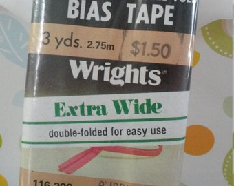Purple Vintage bias tape - sealed - wrights extra wide in royal purple double fold
