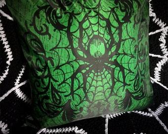 Victorian Spider Pillow Cushion Case