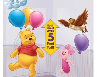 Winnie The Pooh Theme Baby Shower; Winnie The Pooh Birthday Party; Pooh  Scene Setter