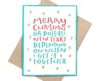 funny belated christmas card