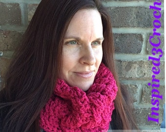 Gifts for Her Chunky Knit Handmade Crochet Cabled Cowl - Neck Warmer - Scarf