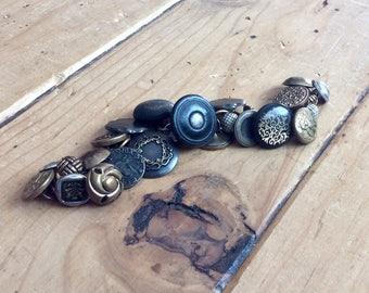 Old Button Charm Bracelet