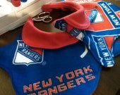 Reserved for Britton - 2 NY Rangers Fleece Dog Coats - SMALL - Adjustable with Velcro, Lined, Polar Fleece, 2-layer