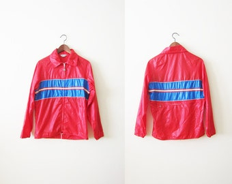 Red Windbreaker / Vintage Windbreaker / Hiking Jacket / Light Weight Windbreaker / Biking Jacket / 70s Pacific Trail Windbreaker