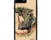 Katy Lipscomb Medicinal Print iPhone 7 Plus Real Wood Traveler Bumper Case - Made in the USA - FREE Shipping