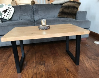 Fruit crate coffee table with 4x4 legs reclaimed free for Coffee tables 4x4