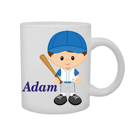 boys baseball mug, boys baseball cup, personalized boys cup, customized boys mug, boys mug, boys birthday gift,
