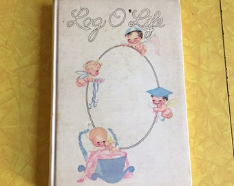 1946 vintage Log O' Life unused baby book for life events