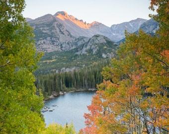 Colorado Landscape Photography Print - Bear Lake Autumn - Rocky Mountain National Park - MetalPrint Option - 11x14 16x20 20x30 24x36 30x40