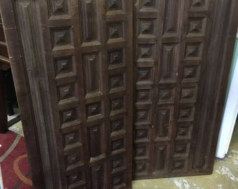 Carved Wood Panels or Headboards for Twin Beds