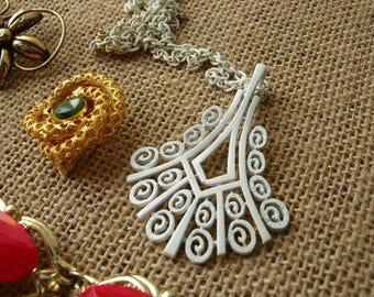 Vintage Jewelry Lot - Bracelet - Brooch - Necklace