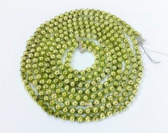 "VINTAGE CHRISTMAS GARLAND - Chartreuse Beaded Garland - Glass Garland - Japan - Bead Beads 98"" 1/4"" wide"