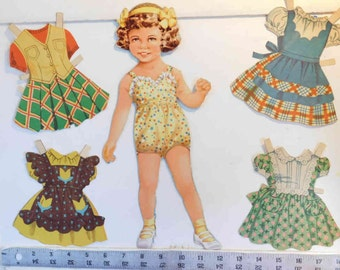 """On Clearance - Vintage 1952 """"Sports Time, Party Time & Play Time Patty"""" Statuette paper dolls  Whitman Publishing"""