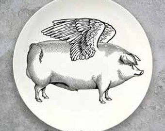 Pigs fly plate