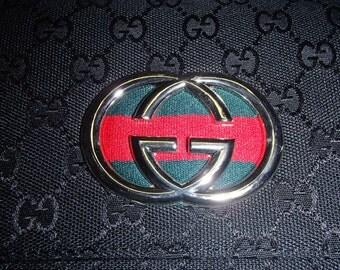 756aa0b4195 Vintage gucci bag etsy jpg 340x270 Silver gucci logo