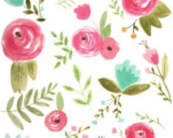 Happy Floral Changing Pad Cover
