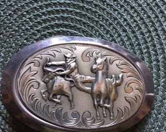 Vintage Rodeo Horse Buckle