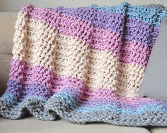 Grande Metallic Throw - Instant Download PDF Crochet Pattern