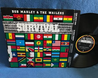 "Vintage, Bob Marley & The Wailers- ""Survival"", Vinyl LP, Record Album, Original 1979 First Press, Reggae, So Much Trouble In The World"